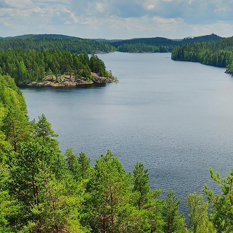 Soome järvemaastik mobiilipilt